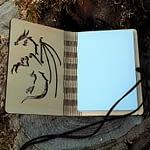 Carnet dragon ouvert